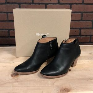 Madewell Billie Ankle Boots Black Leather 8.5
